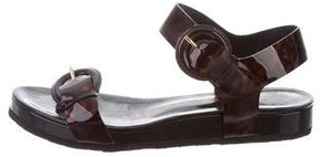 Walter Steiger Patent Leather Ankle Strap Sandals