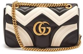 Gucci GG Marmont quilted-leather shoulder bag - BLACK WHITE - STYLE