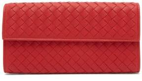 Bottega Veneta Intrecciato Continental Leather Wallet - Womens - Red