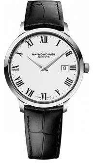 Raymond Weil Mens Toccata Silvertone and Leather Watch