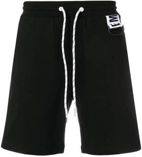 Dirk Bikkembergs logo drawstring shorts