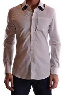 Frankie Morello Men's White Cotton Shirt.