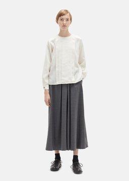 Blue Blue Japan Saxony Wool Hakama Pants Grey Size: Small