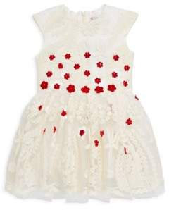 Halabaloo Little Girl's Textured Petal Dress