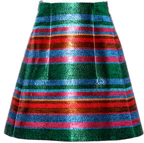 DELPOZO Striped Lurex Mini Skirt