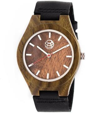 Earth Aztec Collection ETHEW4104 Wood Analog Watch