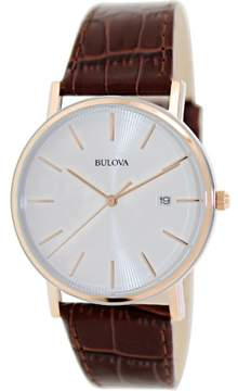 Bulova 98H51 Brown Analog Japanese Quartz Men's Watch