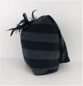 Alice + Olivia Alice & Olivia- Striped Embellished Knit Bag
