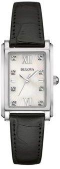 Bulova Diamond Leather Strap Bracelet Watch- 96P156