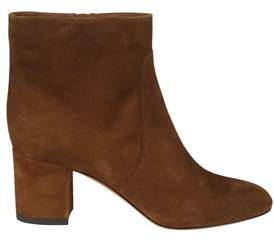 Santoni Women's Brown Suede Ankle Boots.