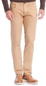 Pal Zileri Slim-Fit Textured Jeans