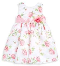 Little Me Little Girl's Rose-Print Dress