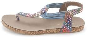Material Girl Womens Emmit Open Toe Casual Sandal.