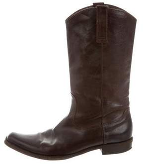 CNC Costume National Mid-Calf Leather Boots