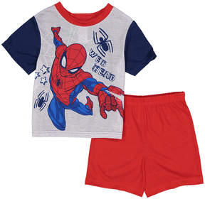 Spiderman Red 'Web Head' Two-Piece Pajama Shorts Set - Toddler