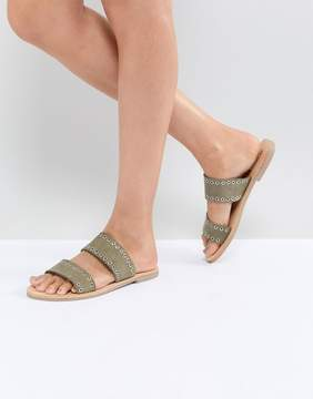 Sol Sana Botony Khaki Slide Sandals