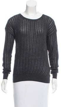 Band Of Outsiders Wool Open Knit Sweater