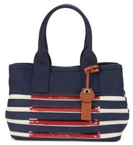 Marc Jacobs St. Tropez Sequin Stripe Tote - NEW PRUSSIAN BLUE - STYLE