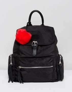 Pull&Bear Nylon Pocket Detail Back Pack