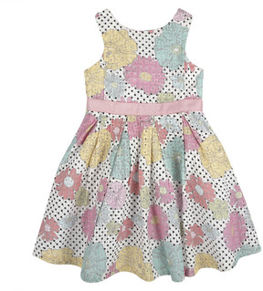 Andy & Evan Girls' Aqua Floral Eyelet Party Dress