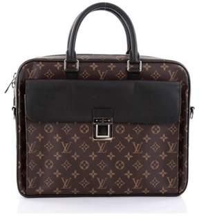 Louis Vuitton Pre-owned: Soft Briefcase Macassar Monogram Canvas. - BROWN - STYLE