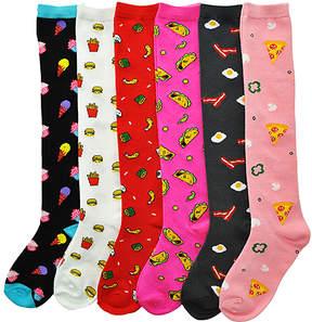 Angelina Pink Food 6-Pair Knee-High Socks Set - Women