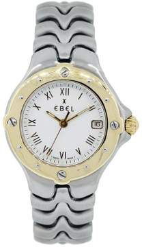 Ebel Sportwave White Dial Two Tone 18K Yellow Gold & Stainless Steel 28mm Womens Watch