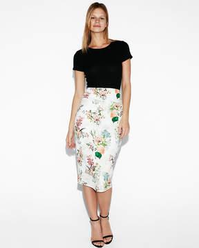 Express Super High Waisted Floral Pencil Skirt