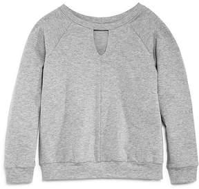 Aqua Girls' Sweatshirt with Keyhole Front, Big Kid - 100% Exclusive