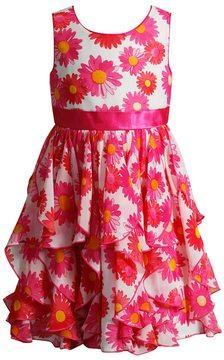 Youngland Girls 4-6x Sleeveless Tiered Daisy Dress