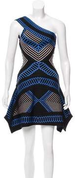 Herve Leger Margeaux One-Shoulder Mini Dress
