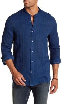 John Varvatos Striped Woven Trim Fit Shirt