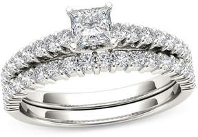 Zales 1 CT. T.W. Princess-Cut Diamond Bridal Set in 14K White Gold