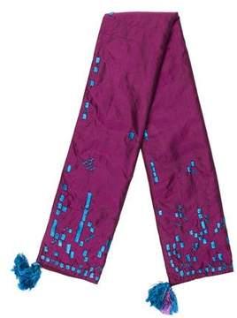 Dries Van Noten Embroidered Silk Scarf