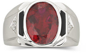 JCPenney FINE JEWELRY Men's Created Ruby & Onyx Ring