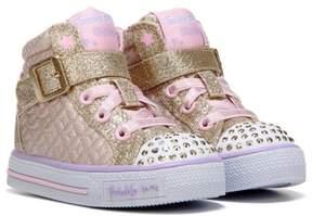Skechers Kids' Twinkle Toes Twinkle Charm High Top Sneaker Toddler