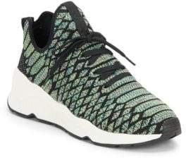 Ash Magma Python-Print Wedge Sneakers