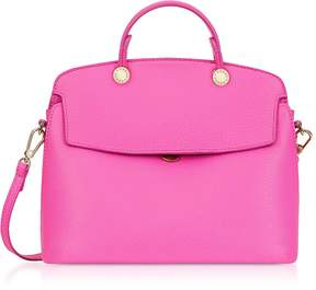Furla Fuchsia Leather My Piper Small Satchel Bag