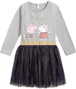 Peppa Pig Glitter-Pleat Dress, Little Girls (4-6X)