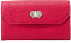 Alexander McQueen Leather Chain Turn-Lock Wallet, Pink