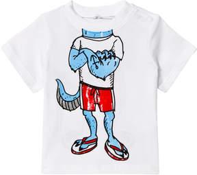 Stella McCartney Grey Headless mutant Print Chuckle T-Shirt