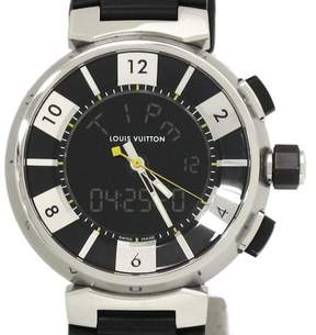 Louis Vuitton Tambour Q118F Stainless Steel and Rubber Quartz 41mm Mens Watch