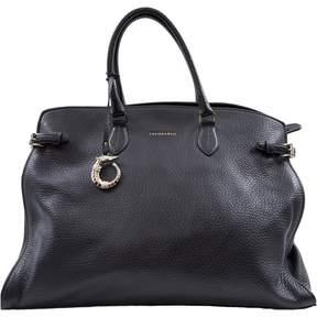 Trussardi Black Leather Handbag