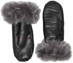 UGG Leather Mitten w/ Toscana Trim Extreme Cold Weather Gloves