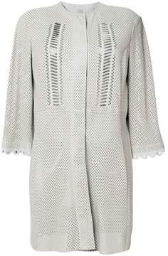 Drome perforated coat