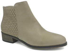 Bamboo Light Gray Saber Ankle Boot - Women