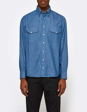 Gitman Brothers 6.5oz Japanese Denim Shirt in Indigo