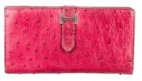 Hermes Ostrich Bearn Wallet - RED - STYLE