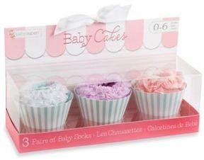 Baby Aspen Baby Cakes 3-Pair Cupcake Sock Gift Set