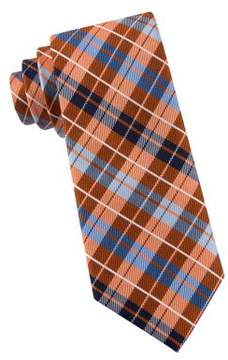 Lord & Taylor Boys Double Plaid Silk Tie